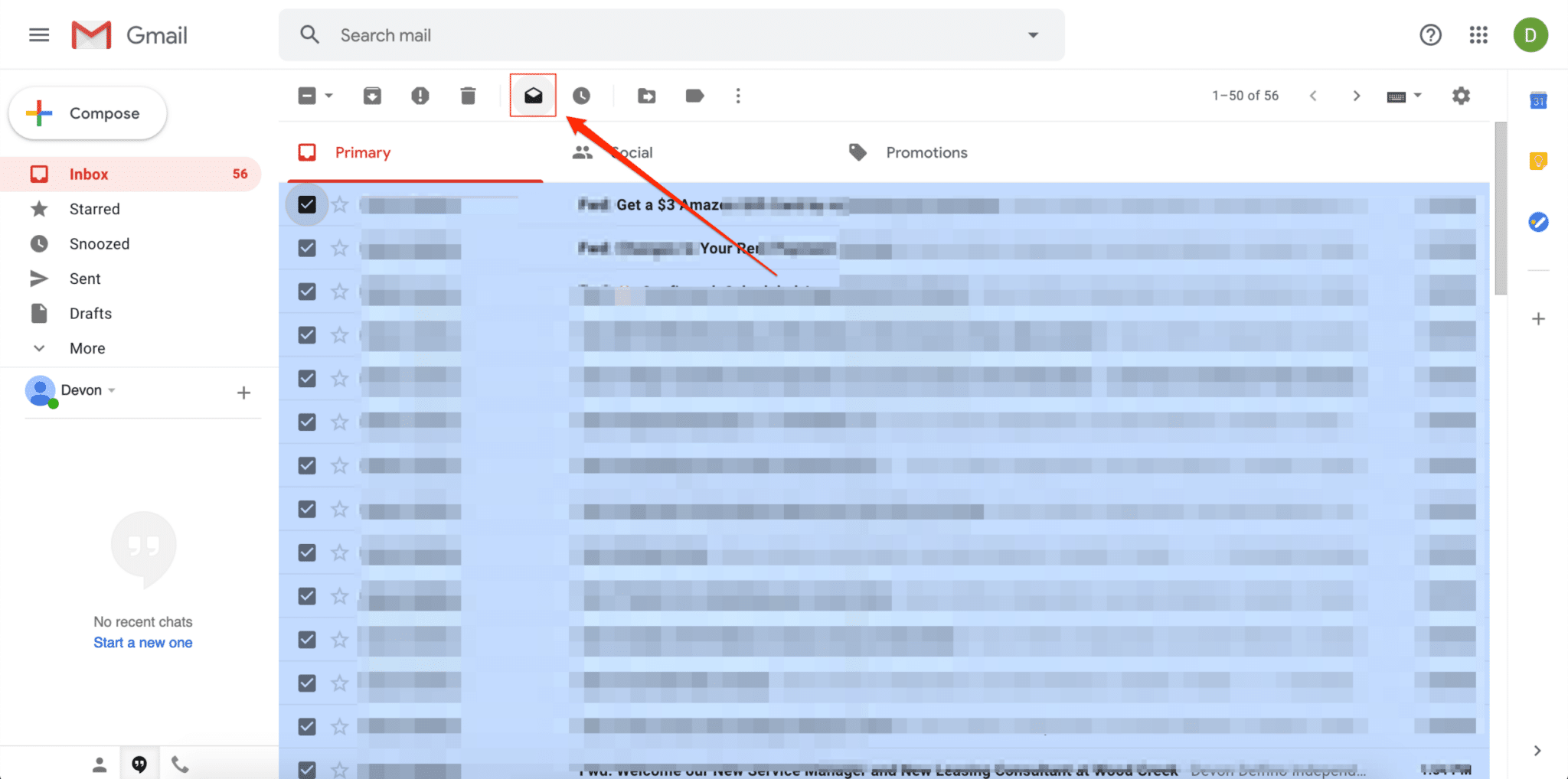 how to mark all emails as read